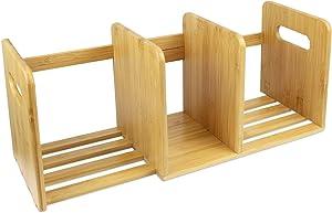 SOTECH - Rangement de Bureau en Bambou, Bibliothèque Extensible en Bois, Bibliothèque Extensible en Bambou pour Le Bureau et la Maison