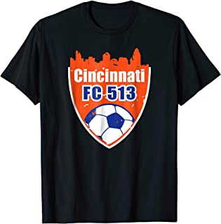 Distressed Vintage Cincinnati Soccer FC 513 Sincy shirt