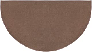 Plow & Hearth Flame-Resistant Fiberglass Half-Round Hearth Fireplace Area Rug, 27