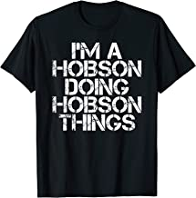 HOBSON Funny Surname Family Tree Birthday Reunion Gift Idea T-Shirt