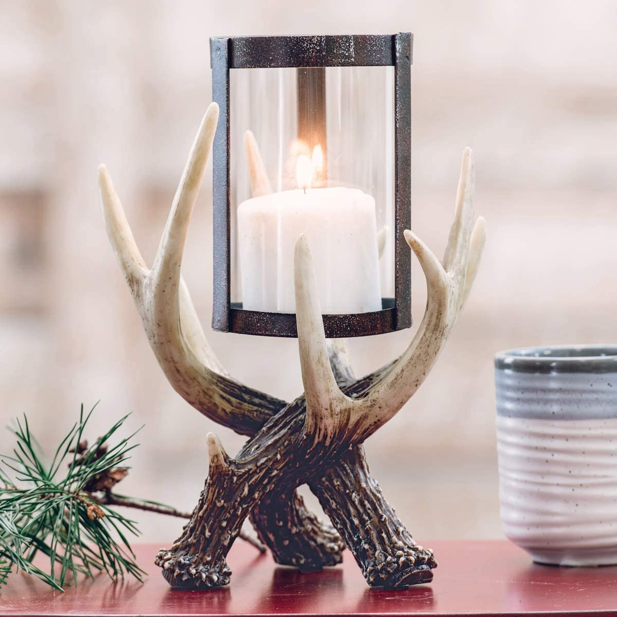 BLACK FOREST Alternative dealer DECOR Antler Candle Holder Tucson Mall Hurricane