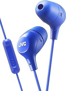 JVC Memory Foam Earbud Marshmallow Memory Foam Earbud with Mic Blue (HAFX38MA)