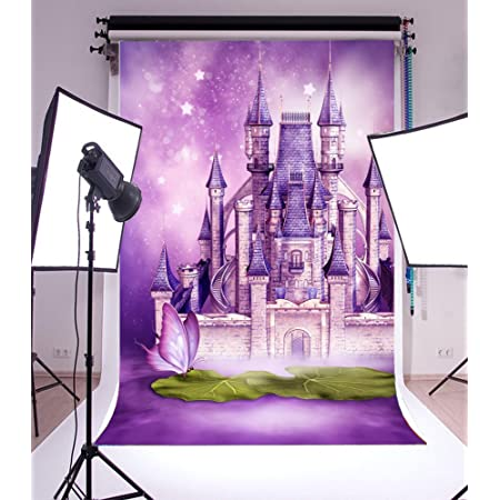 Halloween Backdrop 7x5 ft 3D Magic Castle Photography Backdrop Sky Moon Lightning Studio Background Halloween Decoration Birthday Baby Shower Party Supplies Shoot Props #2773