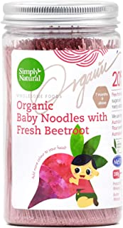 Simply Natural Organic Handmade Baby Thin Noodle, Beetroot Flavour, 200g