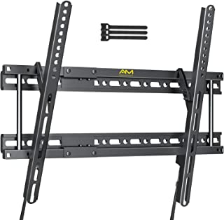 Tilting TV Wall Mount Bracket for 37-82 Inch LCD OLED Flat Screen Curved TVs-Low Profile TV Mount Fits 16-24'' Studs with ...