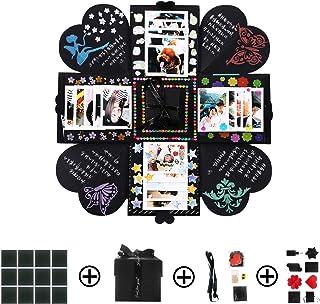 PTN Caja de Explosión Creativa, Caja de Regalo, Explosion Box 6 Caras, DIY Álbum de Fotos Scrapbook Caja para Hombres Muje...