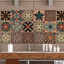 6/Carreaux Vamos Tile Peel et b/âton pour carrelage pour Dosseret 3D Autocollant Mural carrelage pour Cuisine et Bathroom-10.62/x 25,4/cm
