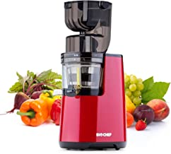 BioChef Atlas Whole Slow Juicer PRO - 300W / 45 RPM, Wide Feed Juicer, Masticating Cold Press Juicer - LIFETIME Motor Warranty (Red)