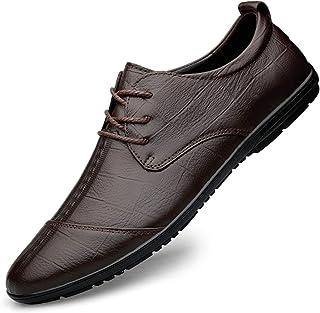 Zapatos casuales Zapatos casuales de los hombres, zapatos de punta con relieve en relieve con estampado en relieve de cuer...