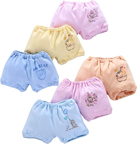 ANGAAKAR CLOTHINGS Baby Boy's & Baby Girl's Cotton Bloomers (Pack of 6)