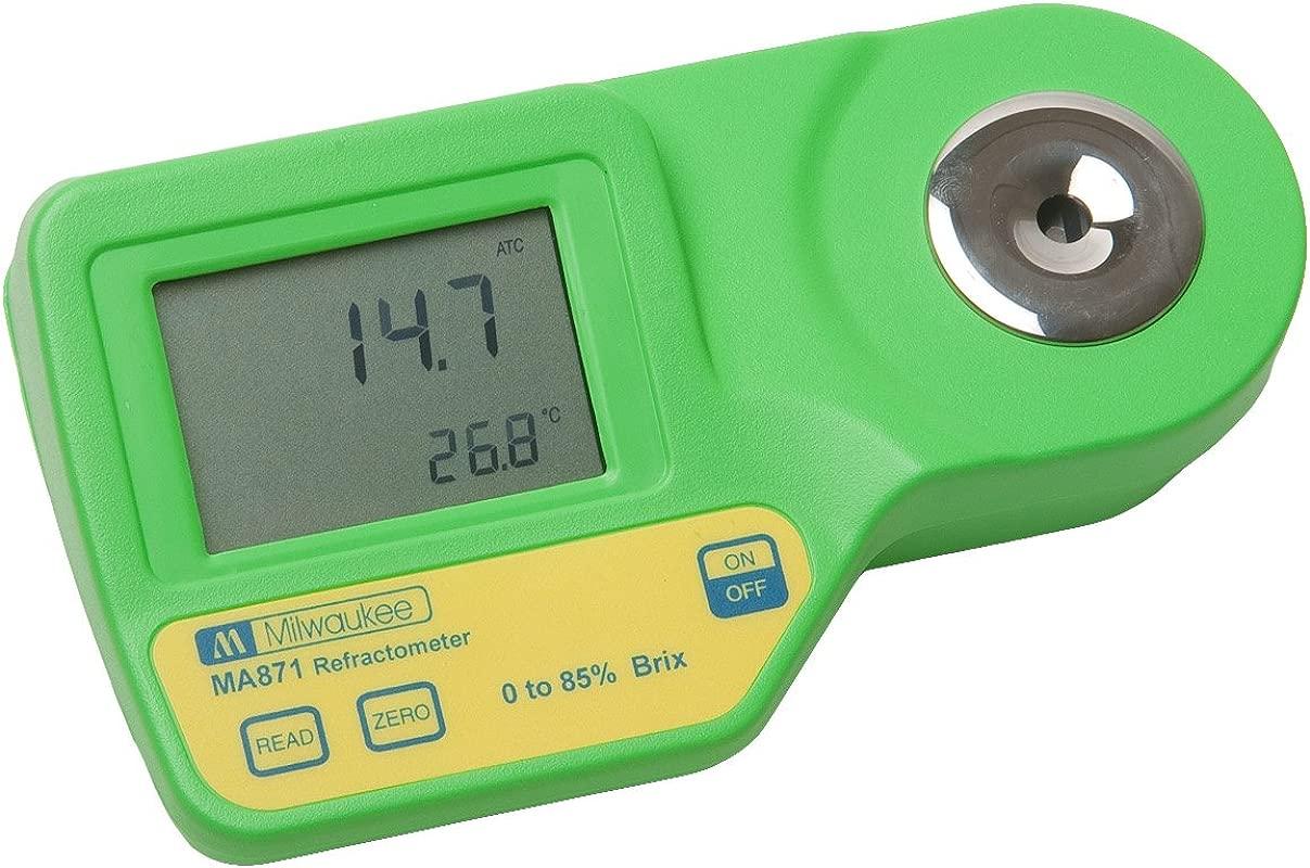 Milwaukee Instruments MA871 Digital Brix Refractometer Range 0 85