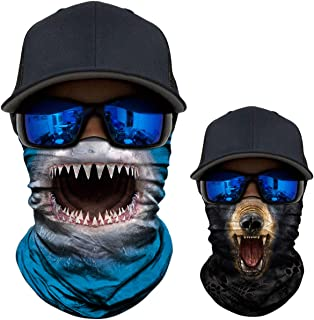 3D Animal Neck Gaiter Scarf Bandana Face Mask Seamless UV Protection for Outdoor Activities…