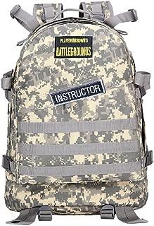 USAMYNA PUBG Level 3 Backpack Tactical Military Assault Backpack Waterproof Bag Rucksack Sport Outdoor Gear For Hunting Camping Trekking with USB Charging Winner Winner Chicken Dinner (ACU)