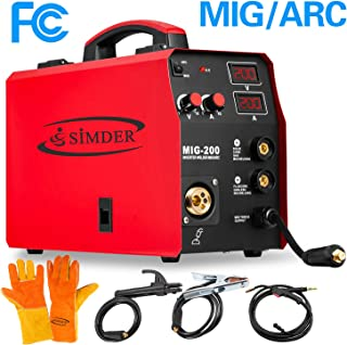 MIG Welder Flux Core Wire Automatic Feed 110V 2 in 1 Mig Arc IGBT DC Welding