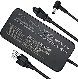 New Slim AC 180W ADP-180MB F, FA180PM111 AC Adapter Compatible Asus Rog G750JM G751JM G750JS G75 G75VW G75VX GL502VT G750JW G750JM G750JX G751JL G751JM G752VL G752VTG-Series Gaming Laptop Charger