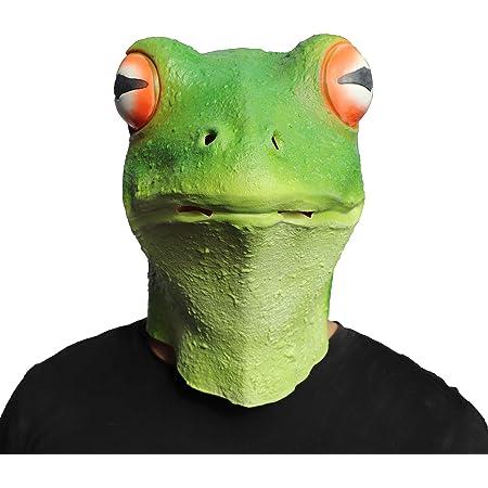 アニマルマスク グリーンカエル マスク仮面 お面 パーティーマスク 衣装 雑貨 コスプレグッズ 被り物 忘年会 パーティー グッズ 変装用マスク コスチューム用小物 かえる 蛙マスク