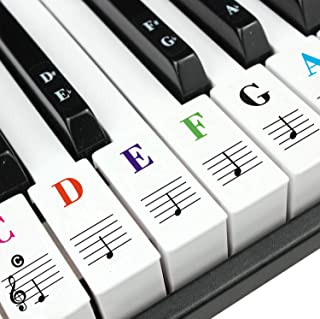 Piano stickers Removable Keyboard Stickers for 88/61/54/49/3