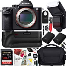 Sony a7R III Full-Frame Mirrorless Interchangeable Lens 42.4MP Camera Body Bundle with Vario-Tessar 128GB Memory Card, Battery Grip, Paintshop Pro 2018 and Accessories (12 Items)