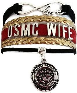 Marine Corp Bracelet, Marine Bracelet, Marine Jewelry, USMC Bracelet, USMC Jewelry, Love Infinity Bracelet
