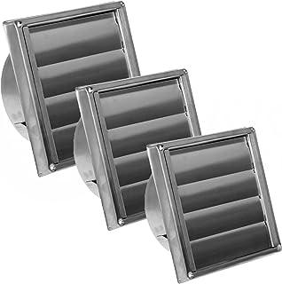 MKK - 10798-006 - Edelstahl Ablufthaube Lüftungsgitter Abluftgitter für außen säurebeständig für Abluftsysteme Edelstahlgitter mit Lamellen Durchmesser 150 mm