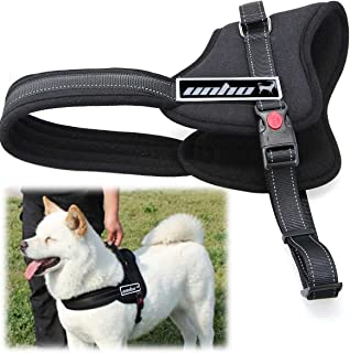 UNHO Nylon Dog Harness for Large Medium Small Dogs with Handle Soft Thick Padded Fleece Pet Walking Vest Harness Heavy Dut...
