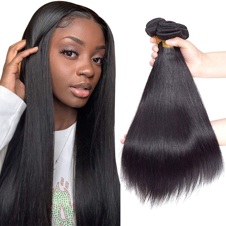 10A Brazilian Virgin Straight Hair 3 Bundles 12