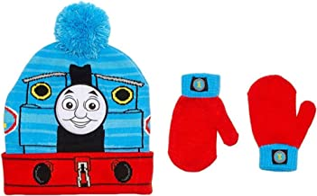 Thomas Train Little Boys Toddler Winter Hat and Mitten Set