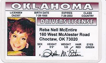 Best Reba McEntire Novelty Drivers License / Fake I.d. Identification for Fans of Is There Life Out There? Review