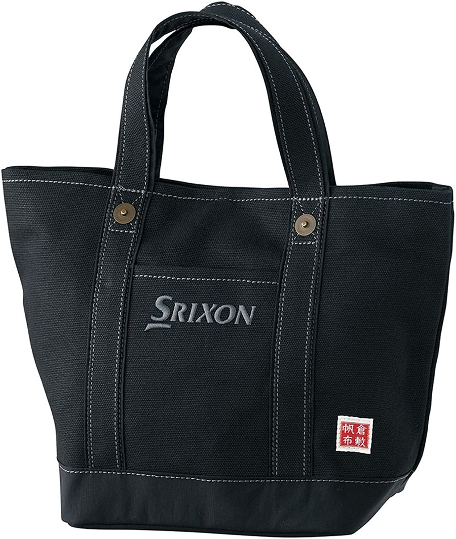 DUNLOP (Dunlop) SRIXON canvas round tote bag GGF-B4008 black