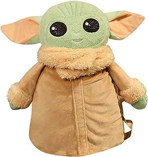 YWZQ Bonita mochila de felpa de peluche de la mandaloriana Baby Yoda de peluche de la mochila linda y suave de la diversión del bebé Yoda de felpa para niños y niñas