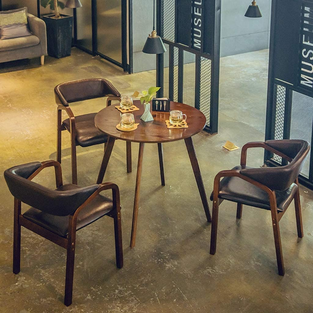 HXF- Chaise de salle à manger, chaise de bureau simple, dossier créatif, chaise de loisirs, chaise de salle à manger pour adulte durable (couleur : A) C