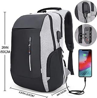 Mochila antirrobo, mochila Daypack 30L con conector de auriculares con interfaz de carga USB y candado con contraseña, mochila al aire libre para negocios de hombres y mujeres, mochila para portátil de 12-16 pulgadas, estudiante