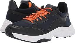 Navy/Black/Orange Peel Nappa Smooth Calf/Neoprene