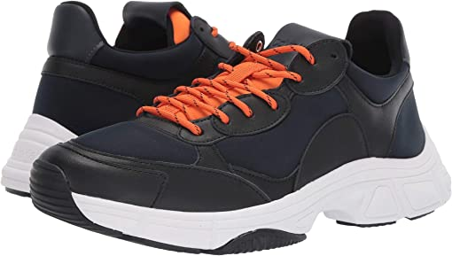 Navy/Black/Orange Peel Nappa Smooth Calf/Neoprene