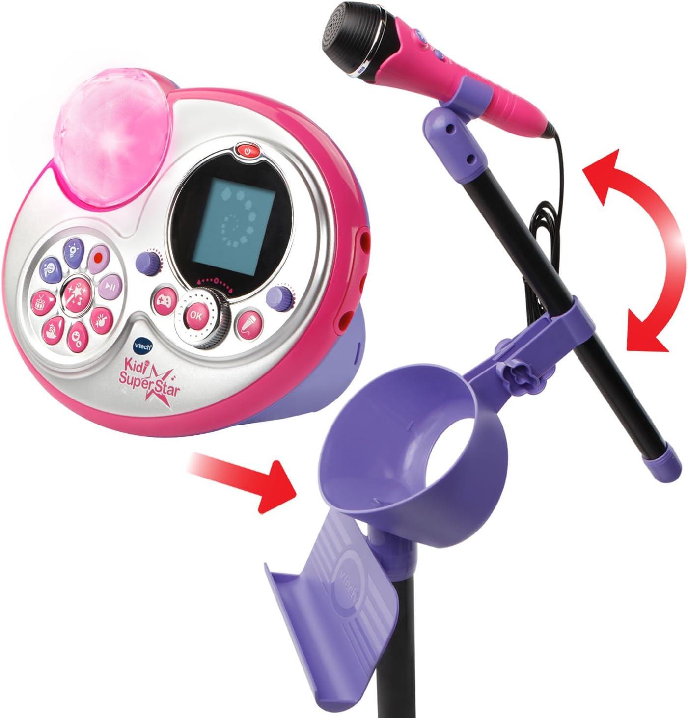 Amazon.com: VTech Kidi Super Star Karaoke System with Mic Stand ...
