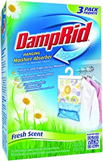 Damp Rid Hanging Moisture Absorber Fresh Scent 3-Bag 14 Ounces each (Pack of 1)