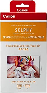 Canon Rp108i Postcard Sized Photo Paper, 100 ×148 mm