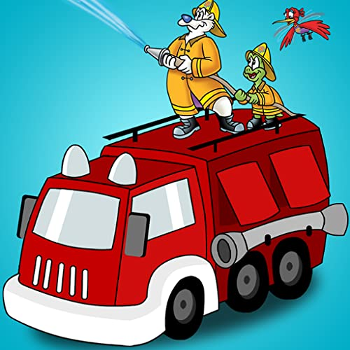 Firefighters, Fire Trucks & Fire Safety: Videos, Games, Photos, Books & Interactive Play & Learn Activities for Kids by The Danger Rangers