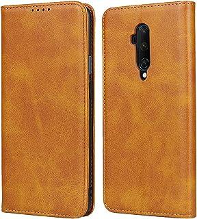 Zouzt OnePlus 7T Pro 手帳型ケースカバー カード収納 マグネット スタンド 5色 ライトブラウン