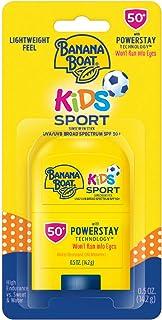 Banana Boat Kids Sport Sting-Free, Tear-Free, Reef Friendly, Broad Spectrum Sunscreen Stick, SPF 50, 0.5oz.