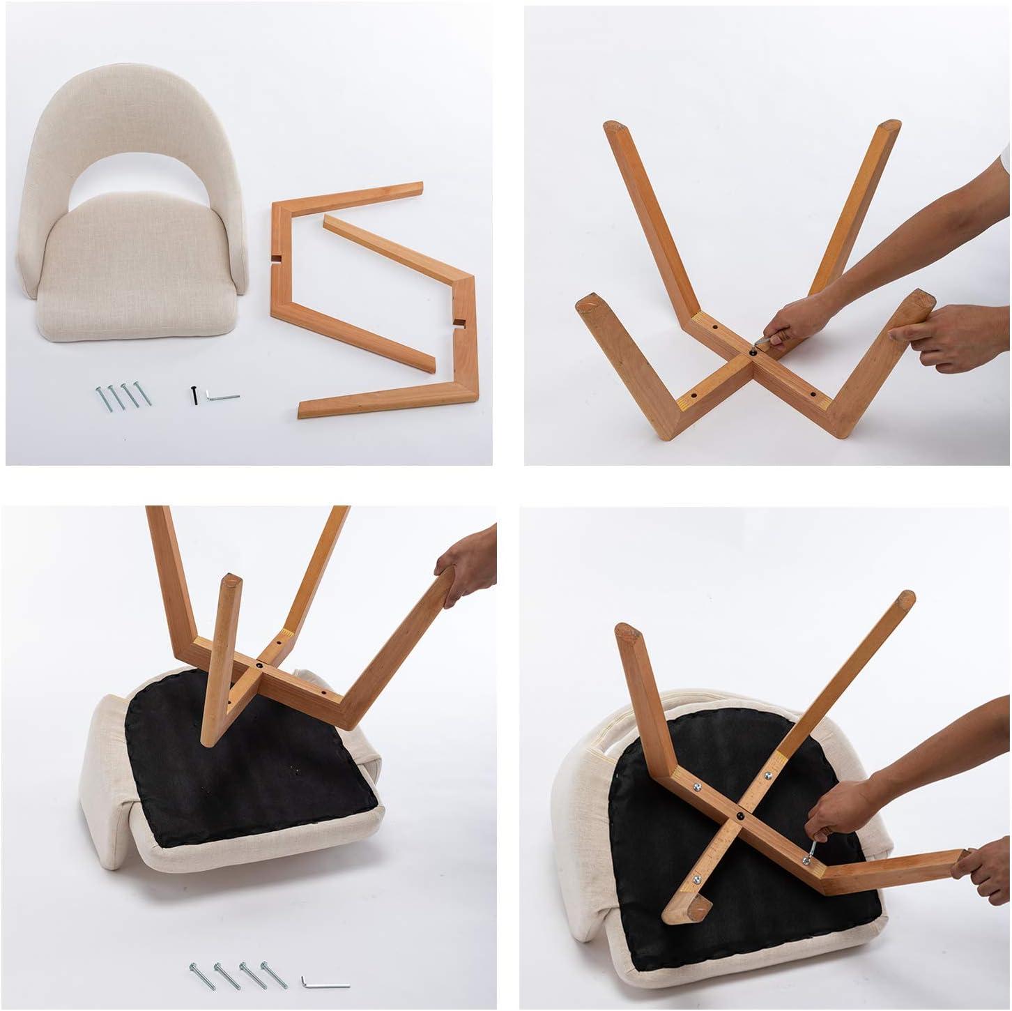 Glamexx24 Hallo Home® Chaises de Salle à Manger Chaise de Cuisine en Velours Chaise de Salon Fauteuil Chaise Visiteur Chaise Moderne Noir Beige X 1 Pcs