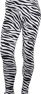 Men's Heavy Metal Rocker Pants Zebra Black/White