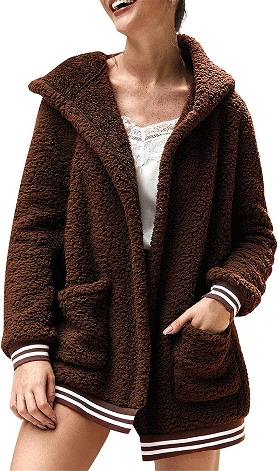 PHSHY Fleece Fuzzy Hoodies for Directly managed store Overs We OFFer at cheap prices Shaggy Shearling Women Faux
