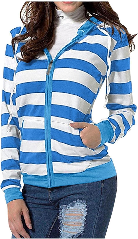 Masbird Hoodies for Women, Womens Fashion Long Sleeve Hoodies Drawstring Hooded Jacket Zip Up Sweatshirts with Pockets
