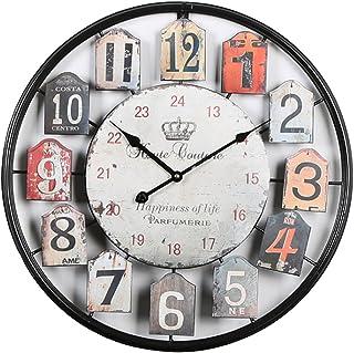 YAHAMA Relojes de Pared Grandes 50 cm Silencioso Metal para Casa, Oficina, Cafetería, etc.