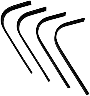 Copper Ridge Outdoors Replacement Tines - 4pk - Use with Landscape Rake, Heavy Duty Spring Steel, 10 in. Tall x 1 in. W, Easy to Install, Rake Woodland Trails, Prep Soil for Food Plots