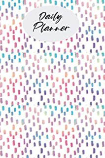 "Daily Planner: Page a Day, Undated Pages | Pastel Raindrops | 6 x 9, ""Plan Your Day"" Appointment & Reminder Notebook"