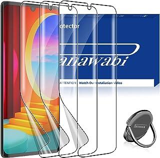 [3 + 1 Pack] Panawabi 3 Pack Screen Protector Compatible for LG Velvet/LG Velvet 5G UW Flexible Film HD Clear with 360°Rot...