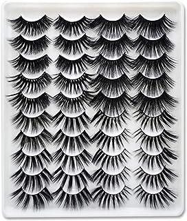 20 Pairs Faux Mink Hair False Eyelashes Natural Eyelashes Extension 5