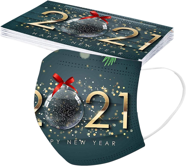 NINGSANJIN 10 St/ück Adult Unisex Staubschutz Atmungsaktive Weihnachten Printing Erwachsenegesichts cover 3 layers importieren stoff Einheitsgr/ö/ße f/ür Herren Damen Geschenk
